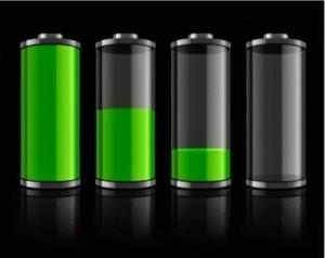 pakraukite baterijas